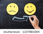change your mood with a sad... | Shutterstock . vector #1237881004