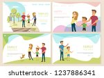 happy childhood  family holiday ... | Shutterstock .eps vector #1237886341