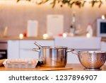 pots for preparing christmas... | Shutterstock . vector #1237896907