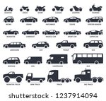 car and motorcycle type icons... | Shutterstock .eps vector #1237914094
