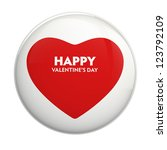 valentine's day greeting | Shutterstock . vector #123792109