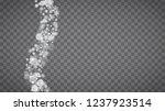 winter frame with white... | Shutterstock .eps vector #1237923514