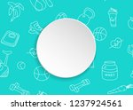 fitness banner with hand drawn... | Shutterstock .eps vector #1237924561