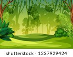 a green jungle landscape... | Shutterstock .eps vector #1237929424