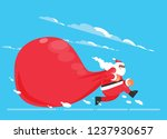 santa claus with a huge bag ... | Shutterstock .eps vector #1237930657