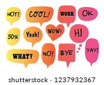 vector bubbles speech doodle... | Shutterstock .eps vector #1237932367