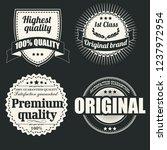 vintage label promo   Shutterstock .eps vector #1237972954