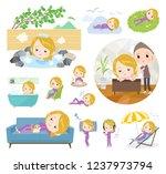 a set of women in sportswear... | Shutterstock .eps vector #1237973794