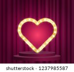 marquee heart sign with... | Shutterstock .eps vector #1237985587