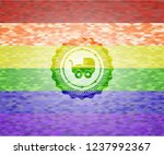 baby cart icon inside emblem on ...   Shutterstock .eps vector #1237992367