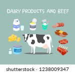 variety of processed products... | Shutterstock .eps vector #1238009347