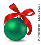 green christmas ball with... | Shutterstock .eps vector #1238014237