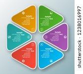 vector abstract 3d paper... | Shutterstock .eps vector #1238016997