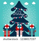 cute winter holiday... | Shutterstock .eps vector #1238017237