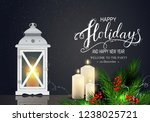 holidays greeting card for... | Shutterstock .eps vector #1238025721