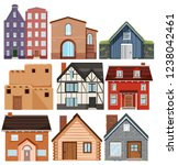 Set Of Different Culture Houses ...