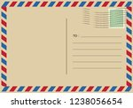 letters and postmarks  airmail... | Shutterstock .eps vector #1238056654