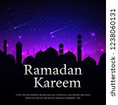 colorful ramadan kareem card... | Shutterstock .eps vector #1238060131