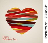 vector retro heart made from... | Shutterstock .eps vector #123806839