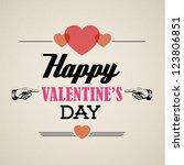 vector happy valentine's card... | Shutterstock .eps vector #123806851
