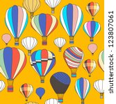 Vector seamless pattern with balloons