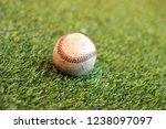 old baseball on grass background | Shutterstock . vector #1238097097