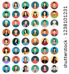 set of avatars colorful vector... | Shutterstock .eps vector #1238101231