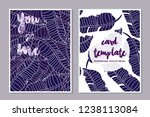 card templates leaves pastel...   Shutterstock .eps vector #1238113084