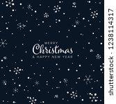 minimalist christmas flyer ... | Shutterstock .eps vector #1238114317