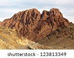 egypt  sinai  mount moses. road ... | Shutterstock . vector #123813349