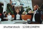 corporate sport lifestyle....   Shutterstock . vector #1238134894