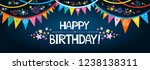 happy birthday banner. greeting ... | Shutterstock .eps vector #1238138311