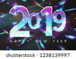 2019 new year holographic...   Shutterstock .eps vector #1238139997