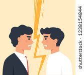 two men staring each other as a ... | Shutterstock .eps vector #1238154844