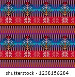 knitting pattern in style fair...   Shutterstock .eps vector #1238156284