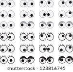 Isolated Googly Eyes Male And...