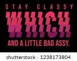 fashion slogan t shirt | Shutterstock .eps vector #1238173804