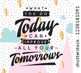 typography for t shirt or... | Shutterstock .eps vector #1238181091