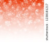 seamless fall of snow flakes... | Shutterstock .eps vector #1238181217