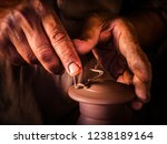 pottery making  in the village... | Shutterstock . vector #1238189164