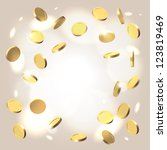 warm golden festive shining... | Shutterstock .eps vector #123819469