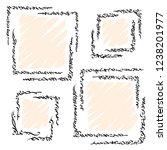 set of graphic corner element ... | Shutterstock .eps vector #1238201977