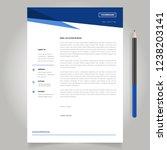 letterhead design template... | Shutterstock .eps vector #1238203141