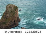 view of a rock towards the sea... | Shutterstock . vector #123820525