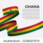 ghana flag for decorative... | Shutterstock .eps vector #1238207074