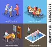nursing home  2x2 design... | Shutterstock .eps vector #1238208121
