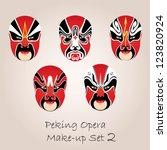Peking Opera Red Make Up Set