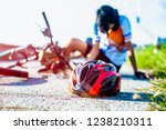 safety helmet lost off from... | Shutterstock . vector #1238210311