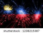 liechtenstein fireworks... | Shutterstock . vector #1238215387