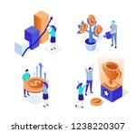 business characters set. can... | Shutterstock . vector #1238220307